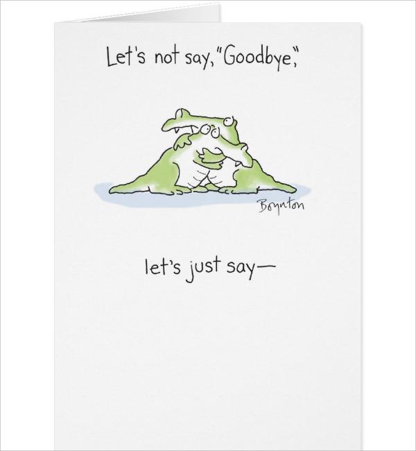 goodbye card template