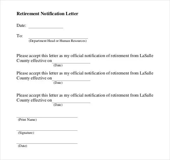 2+ Resignation Retirement Letter Templates - PDF Free  Premium - how to write a letter of resignation due to retirement