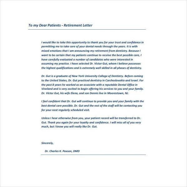 3+ Retirement Letter for Teachers - PDF Free  Premium Templates