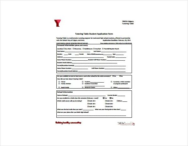 application form for employment template