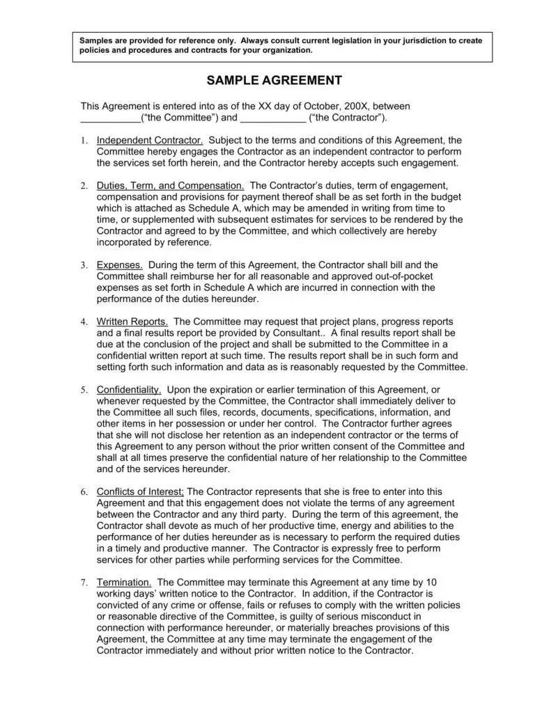 service contract template free download