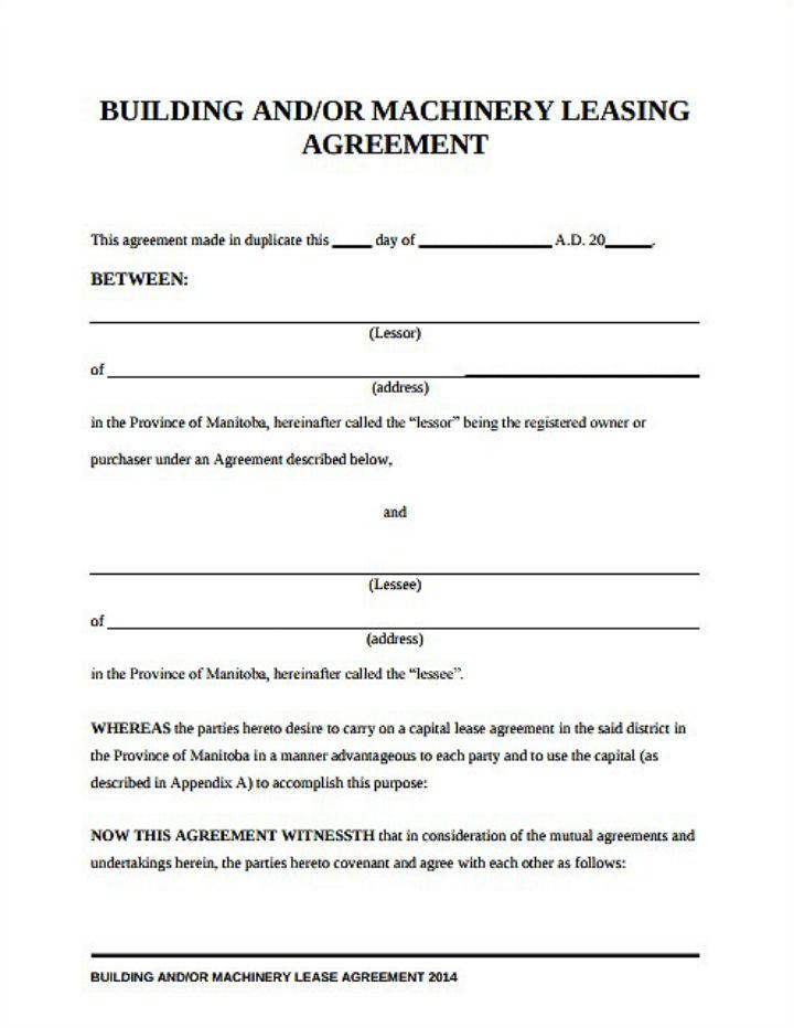 8+ Equipment Lease Request Form Templates - PDF Free  Premium - equipment lease form