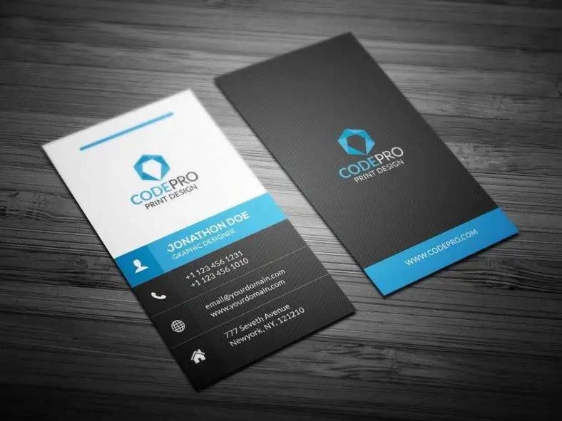 15+ Vertical Business Card Templates - PSD, AI, Word Free