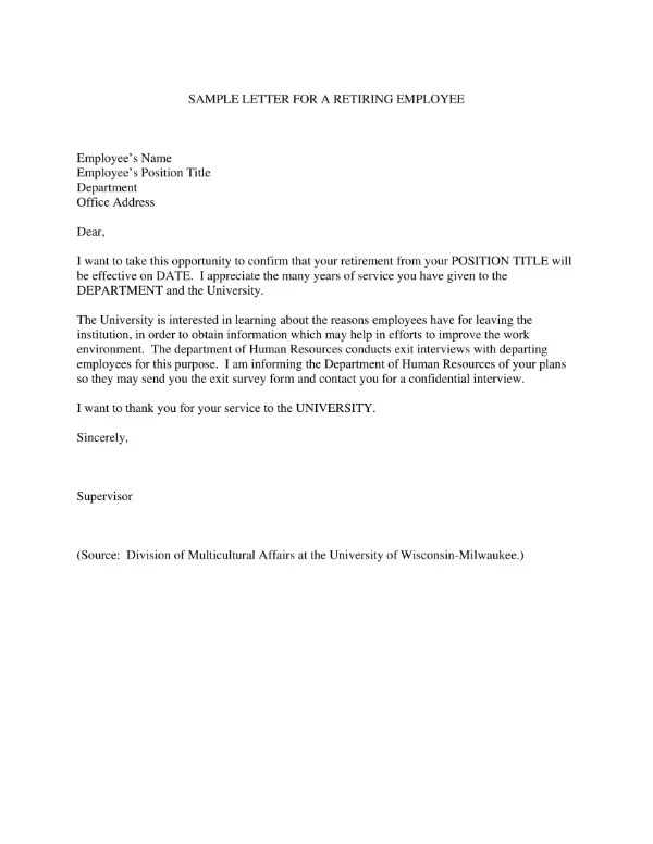 1+ Sample Retirement Letter to Clients in Doc Free  Premium Templates