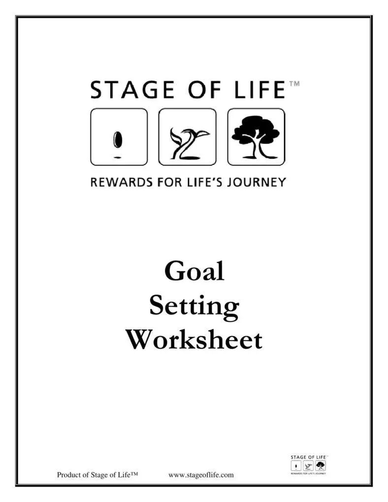 smart goal worksheet pdf
