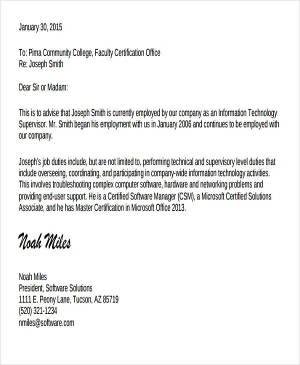 4+ Job Experience Letter Format Templates - PDF Free  Premium - experience certificate templates