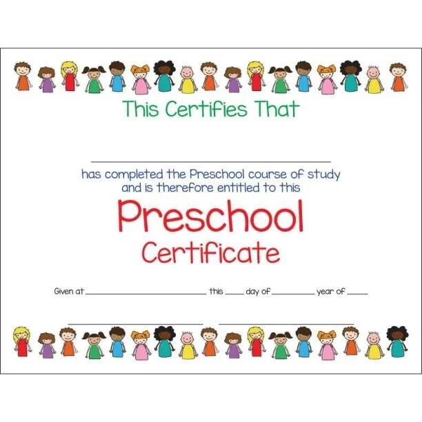 Preschool Certificate Template Cvfreeo