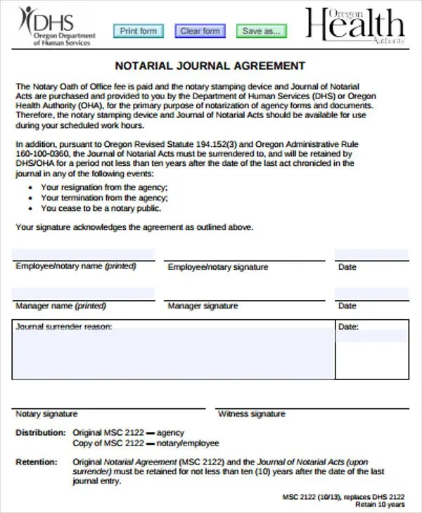 3+ Notary Journal Templates - PDF Free  Premium Templates