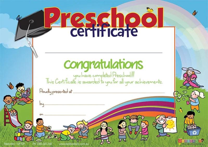 11+ Preschool Certificate Templates - PDF Free  Premium Templates