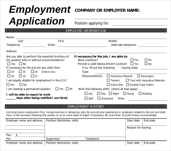 sample of cover letter for job applications