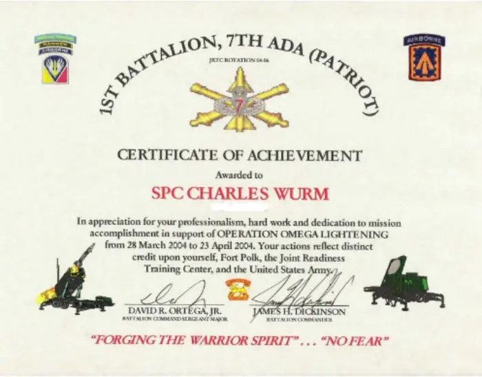6+ Army Appreciation Certificate Templates - PDF, DOCX Free - army certificate of training template