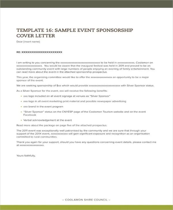 10+ Sponsorship Letter For Event Templates - PDF, DOC Free
