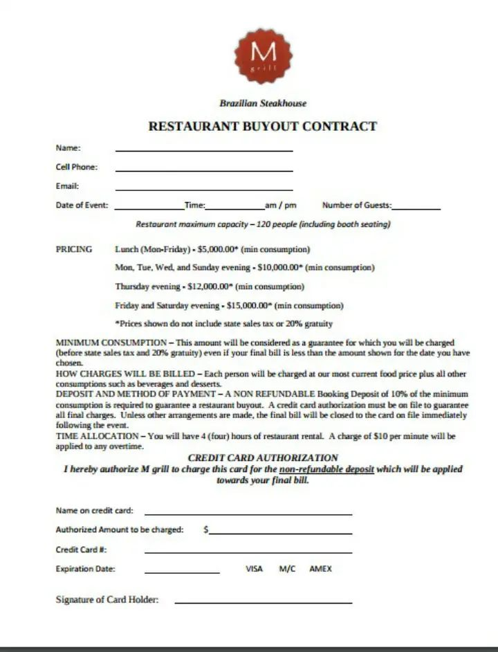 business contracts template