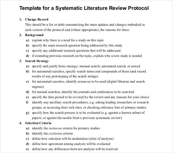 literature review templates