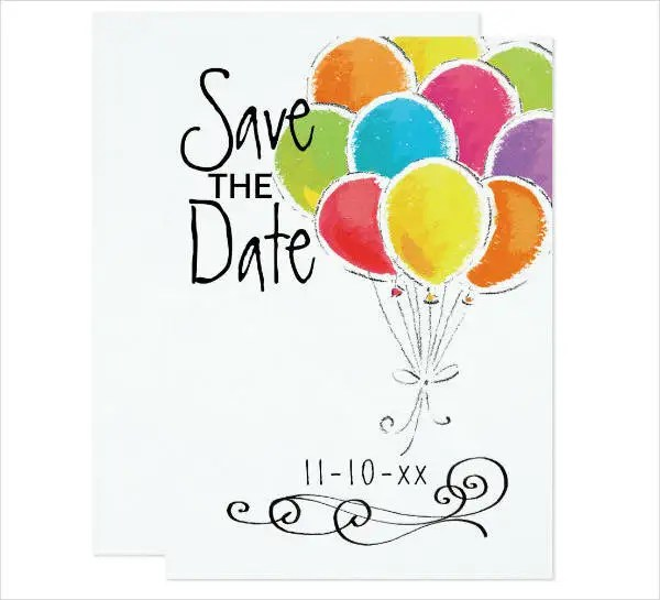 17+ Save the Date Party Invitation Designs  Templates - PSD, AI - save the date birthday template