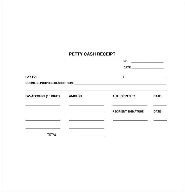 8+ Petty Cash Receipt Template - PDF Free  Premium Templates
