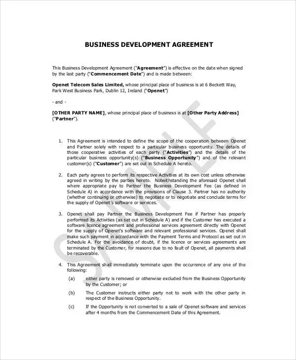 17+ Small Business Contract Templates - Docs, Word, Pages Free