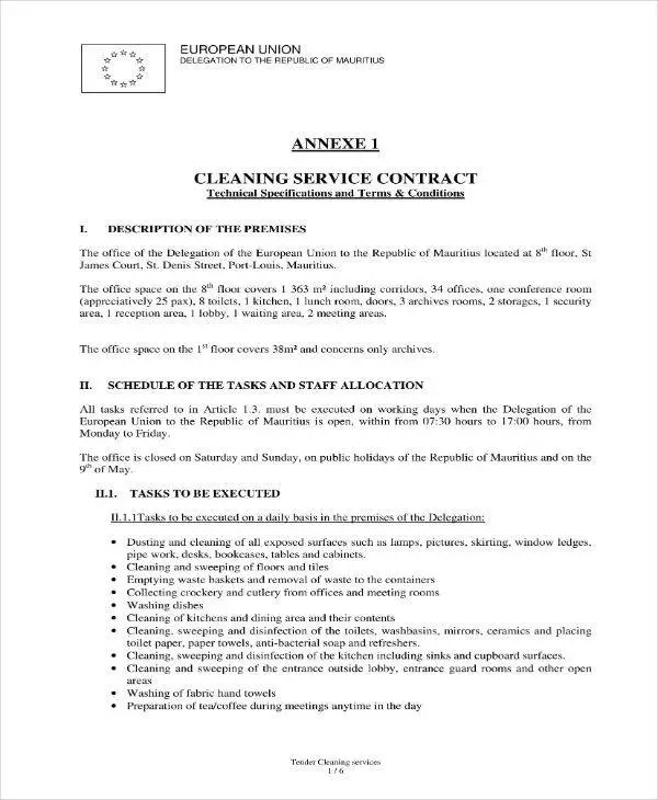 17+ Cleaning Services Contract Templates - Pages, Docs, Word Free