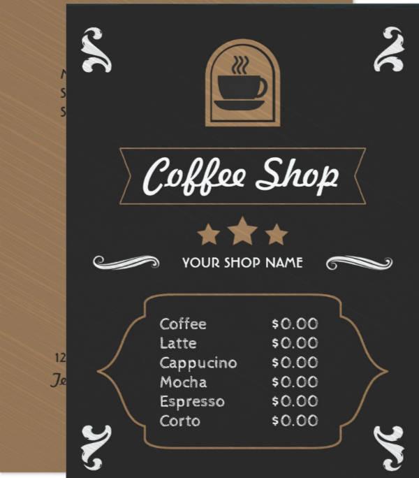 13+ Coffee Shop Menu Designs  Templates - PSD, AI Free  Premium