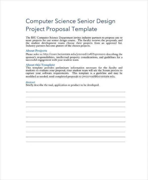 16+ Information Technology Project Proposal Templates - PDF, Word