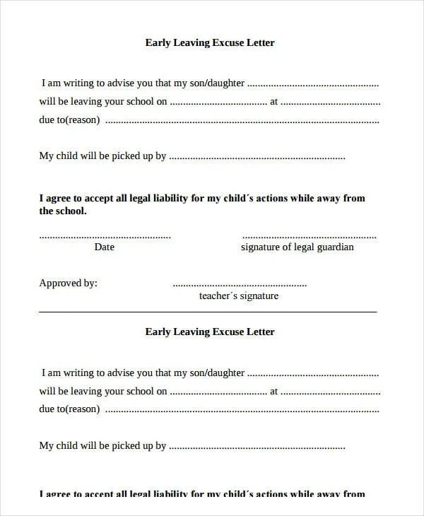 11+ School Excuse Note Templates - PDF Free  Premium Templates