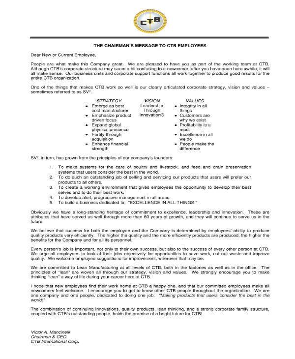 10+ Welcome Note Templates - PDF Free  Premium Templates