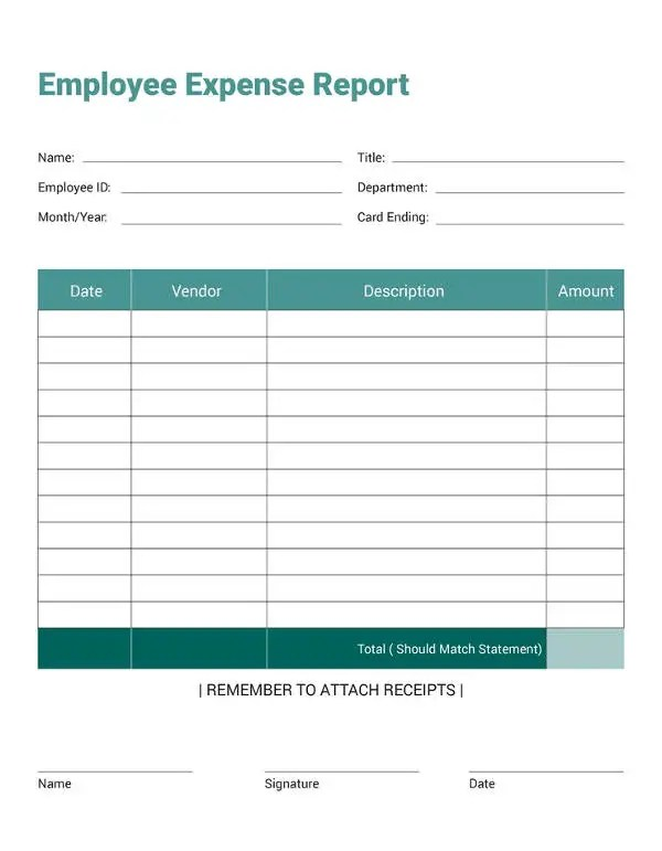 27+ Expense Report Templates - PDF, DOC Free  Premium Templates