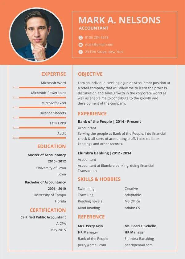 resume format pdf file