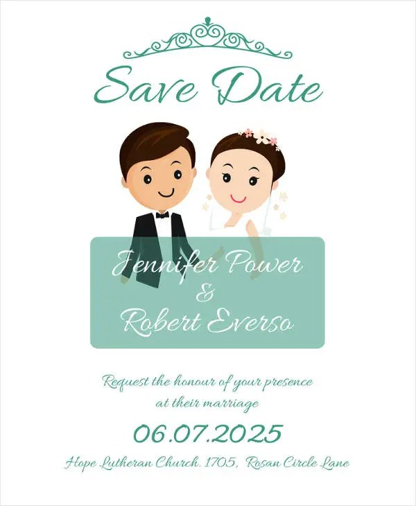 15+ Save The Date Wedding Invitation Designs  Templates - PSD, AI - Save The Date Wedding Templates