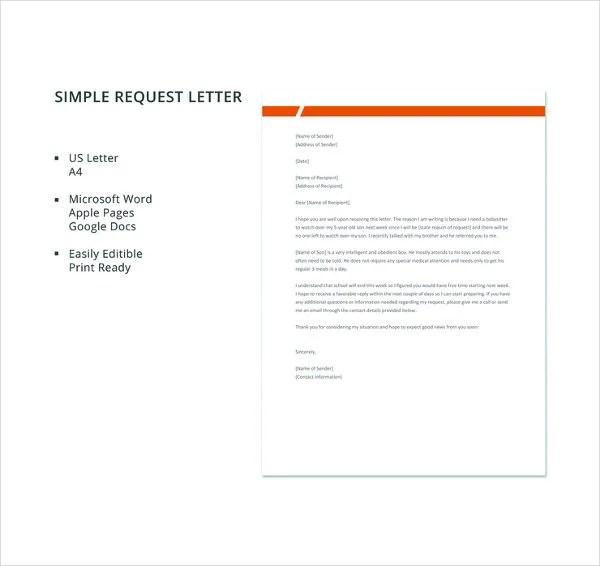 41+ Request Letter Templates - PDF, DOC Free  Premium Templates