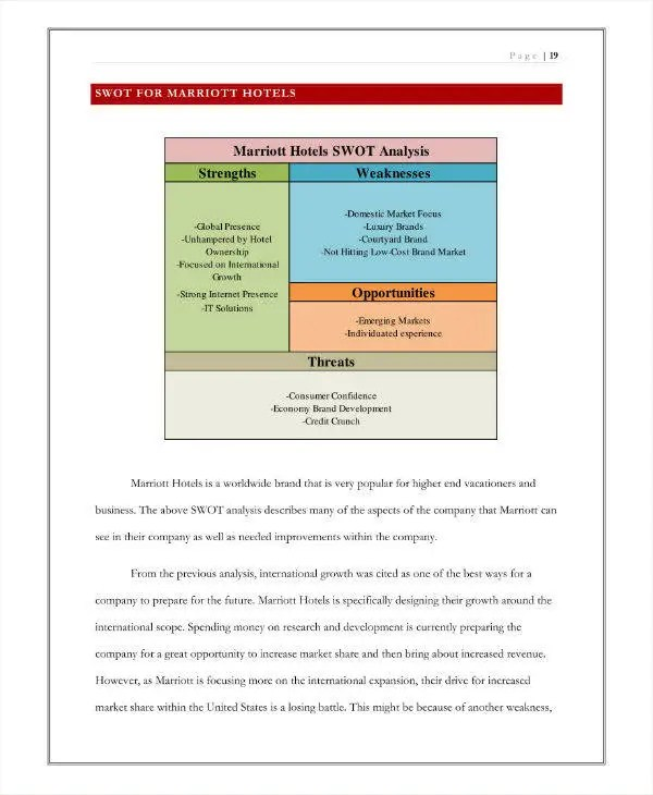 6+ Hotel SWOT Analysis Templates - DOC, PDF Free  Premium Templates