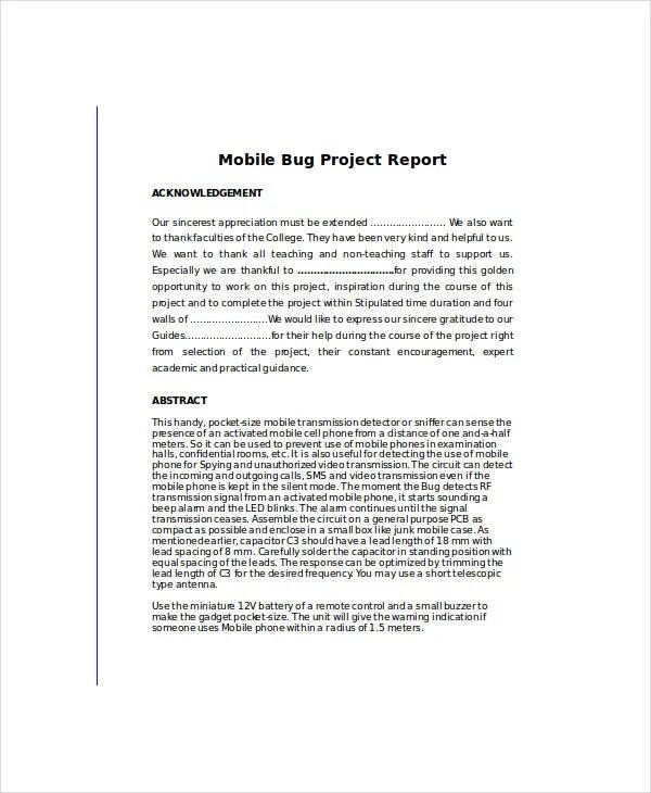 10+ Bug Report Templates - PDF, DOC, XLS Free  Premium Templates