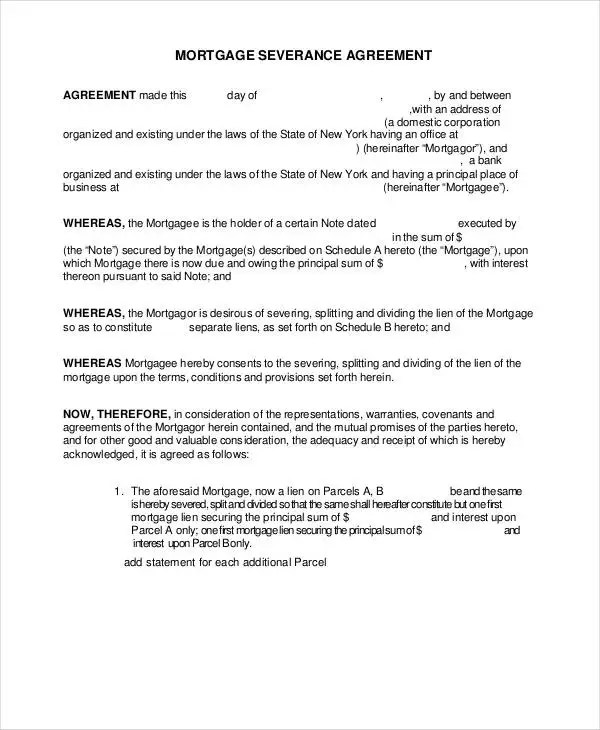 11+ Sample Severance Agreement Templates - PDF, DOC Free  Premium