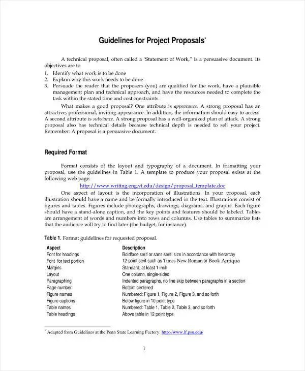 11+ Engineering Project Proposal Templates - PDF, Word, Pages Free