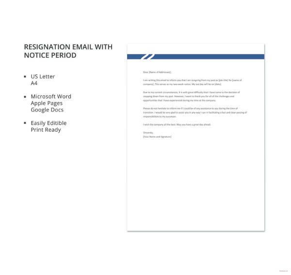 Resign Email Template | nfcnbarroom.com