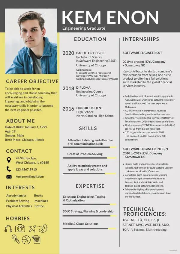 the best resume format for freshers