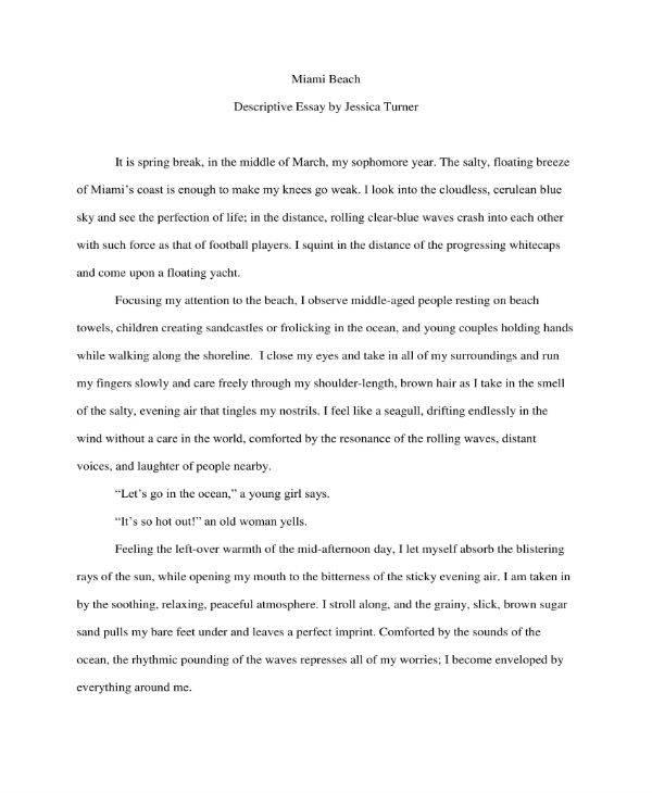 11+ Free Descriptive Essay Templates - PDF, DOC Free  Premium