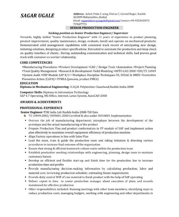 it engineer cv template