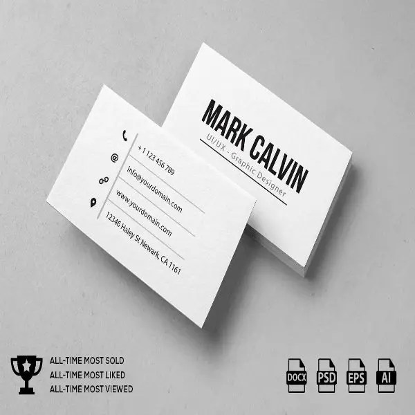 11+ Simple and Clean Business Card Templates Free  Premium Templates