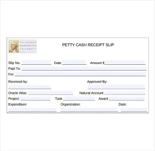 8+ Petty Cash Receipt Template - PDF Free  Premium Templates