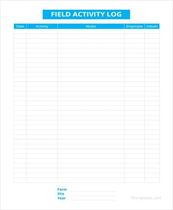 Log Sheet Template - 18+ Free Word, Excel, PDF Documents Download