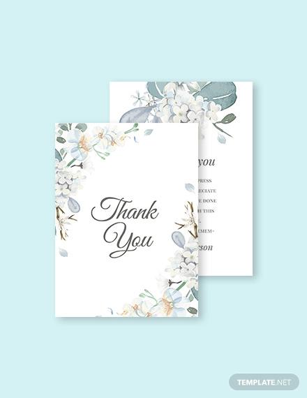 12+ Condolence Thank You Card Designs  Templates - PSD, AI Free