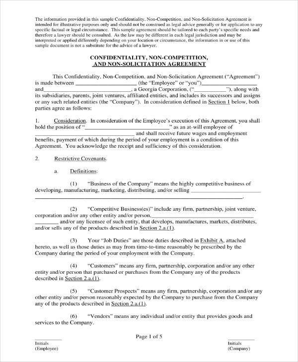 11+ Staff Confidentiality Agreement Templates - PDF Free  Premium