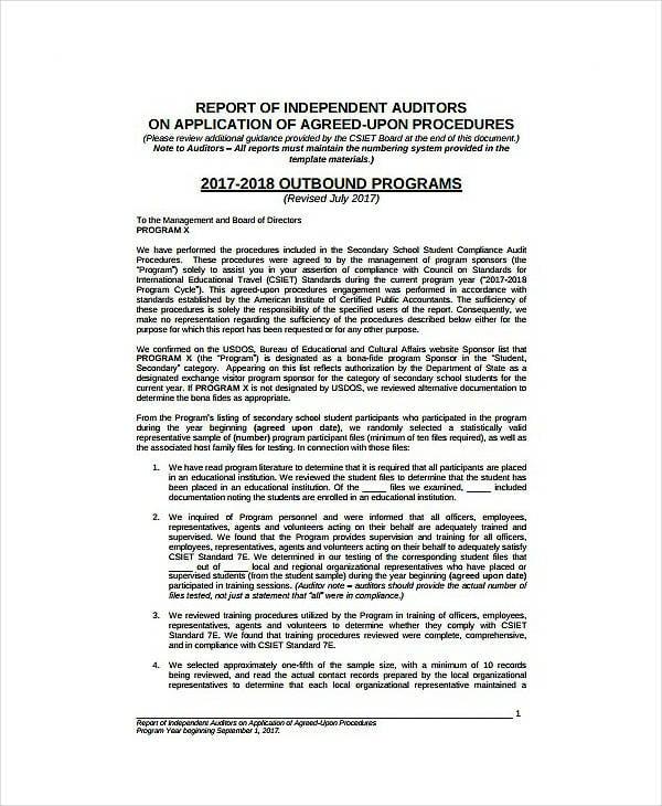 11+ Compliance Audit Report Templates - PDF Free  Premium Templates