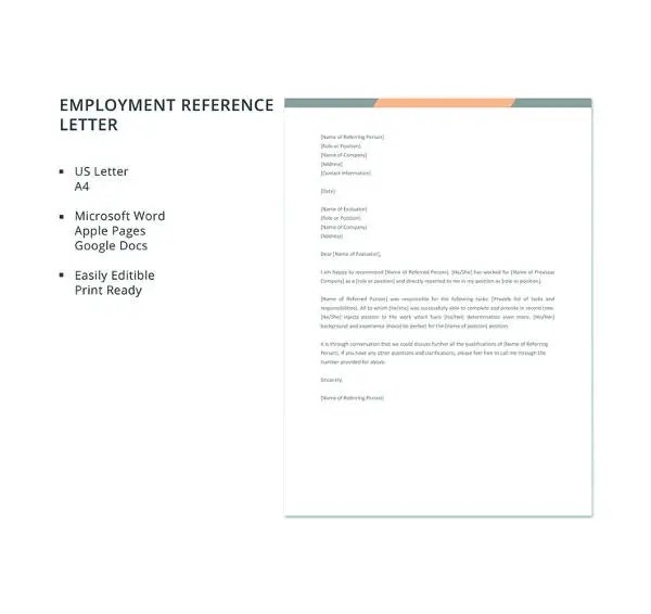 9+ Employee Reference Letters - Free Samples, Examples Format