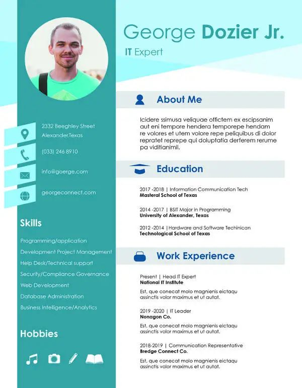 latest cv format for job application