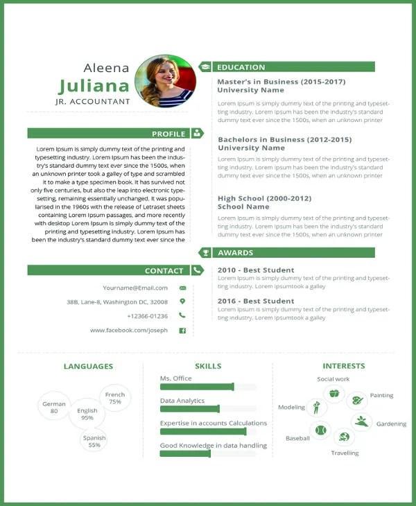 19+ Accounting Resume Templates - PDF, DOC Free  Premium Templates