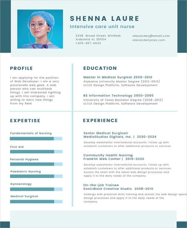8+ Nursing Curriculum Vitae Templates - Free Word, PDF Format