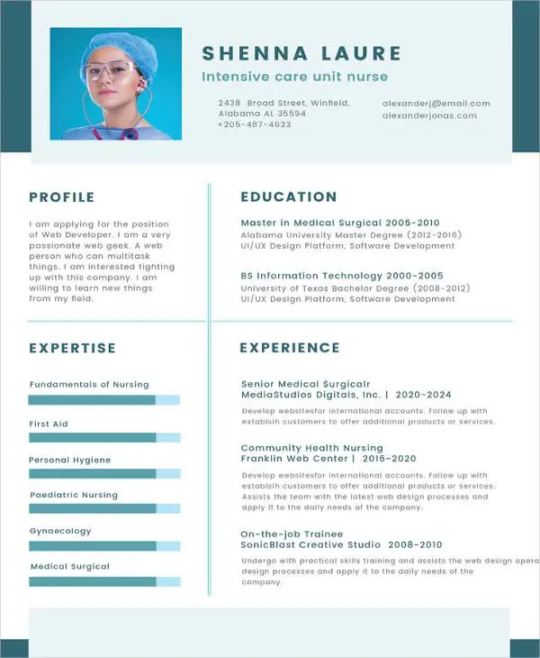 latest cv examples