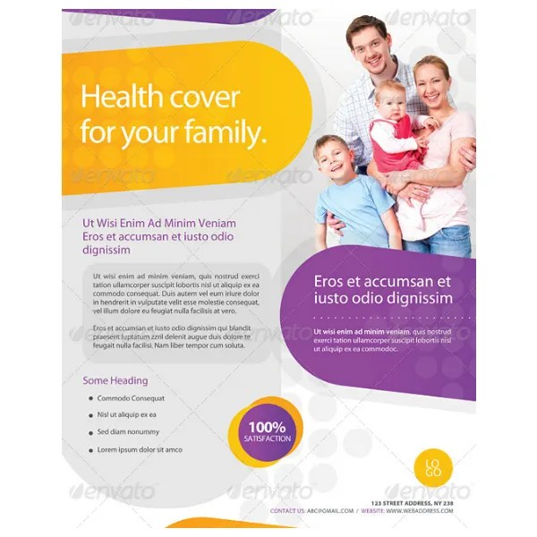 9+ Health Insurance Flyer Designs  Templates PSD, AI Free - insurance flyer templates